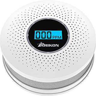Smoke and Carbon Monoxide Detector Combo, with Sound Warning and Number Display Battery Powered