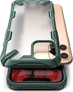 Ringke Fusion X No-Smudge Case Made for iPhone 11 Pro, Anti Glare Fingerprint Resistant Translucent Case for iPhone 11 Pro (2019) - Dark Green