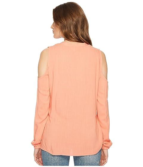 Slub Rossi BB Tie Pink Front Top Jack Dakota Rose Shoulder Cold by Gauze OCqIn6