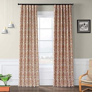 HPD Half Price Drapes BOCH-KC104B-120 Blackout Room Darkening Curtain (1 Panel), 50 X 120, Nouveau Tan