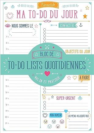 Ma to-do list du jour Mémoniak : Bloc de to-do lists quotidiennes - Malin et pratique