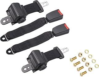 TOYI Universal Retractable Golf Cart Seat Belts Kit for EZGO, Yamaha, Club Car, Go Kart, UTV, Buggies and Bus - Set of 2 -...