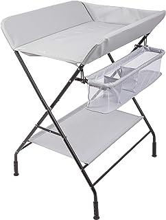 ONVAYA® Table à langer pliable   Commode à langer avec coussin   Peu encombrant et mobile   Combinaison à langer avec plat...