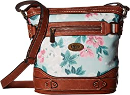 Mint Multi Floral/Saddle