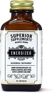 Superior Supplements Energizer Nootropic Energy & Focus Pills - 30 Super Vitamin Capsules - Enhanced Brain Stimulant, Neur...