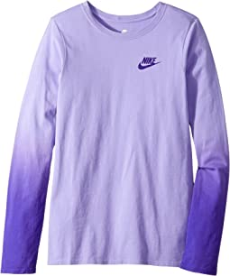 Nike Kids - Sportswear Dip-Dye Long Sleeve Shirt (Little Kids/Big Kids)