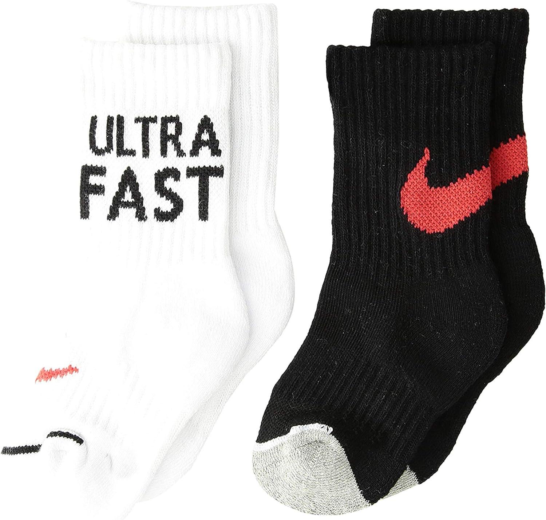 Nike Boy`s Cushioned Crew Socks 2 Pack