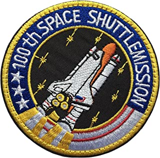 SpaceAuto 100th Space Shuttle Mission NASA Astronaut Tactical Morale Patch 3.15