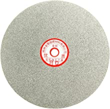 uxcell 200mm 8-inch Grit 80 Diamond Coated Flat Lap Disk Wheel Grinding Sanding Disc