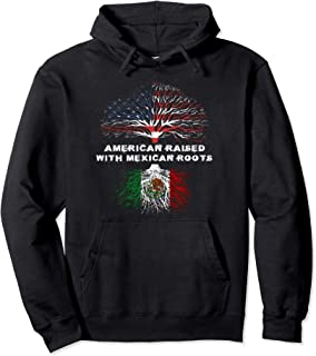 American Raised with Mexican Roots USA Flag Hoodie
