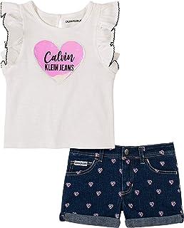 Calvin Klein Baby Girls` 2 Pieces Shorts Set