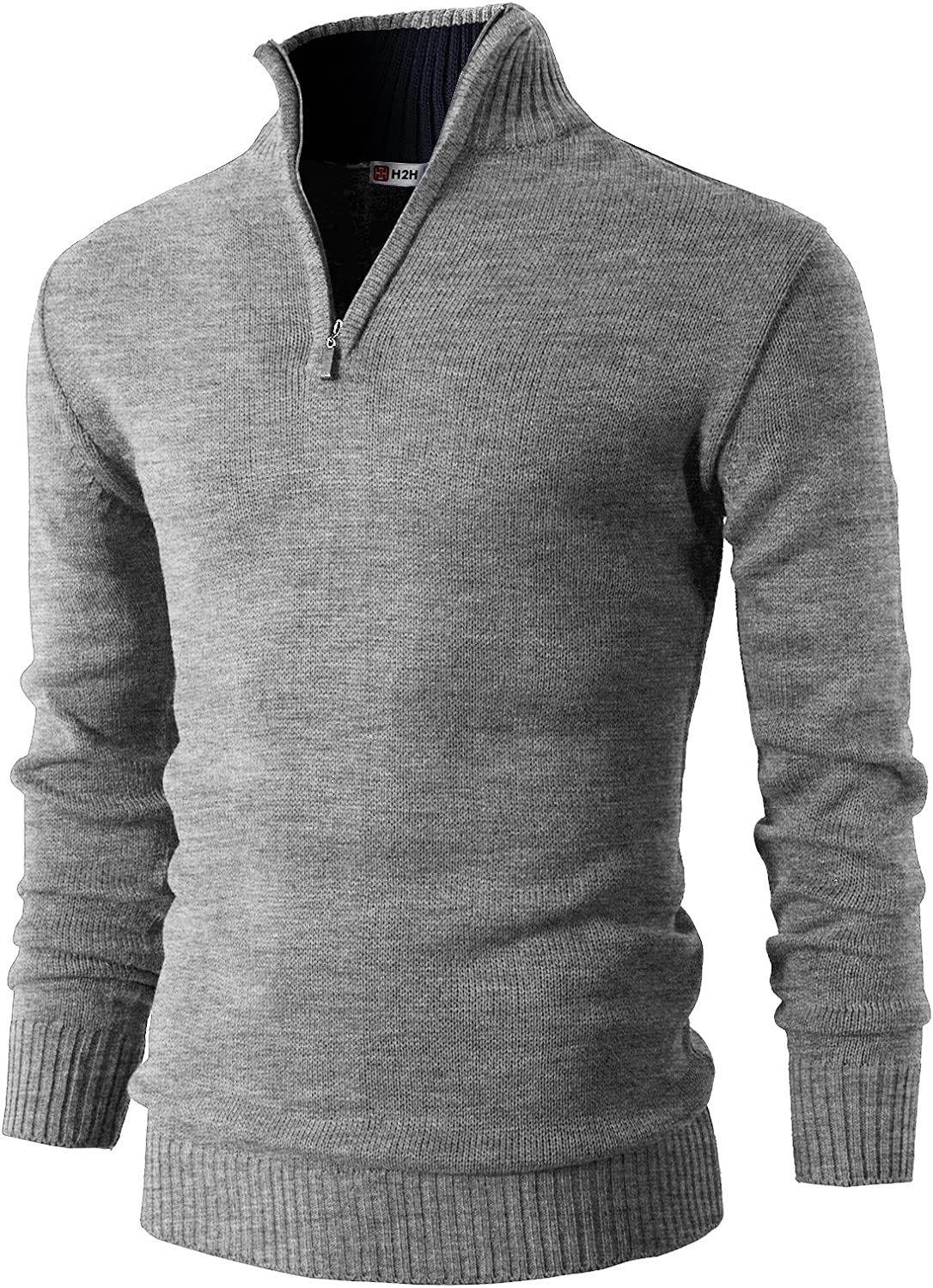 H2H Mens Casual Max 72% OFF Slim Fit Pullover Directly managed store Long Sweaters F Knitted Sleeve