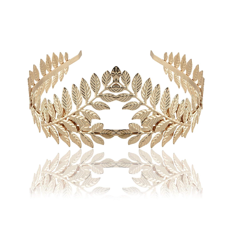Roman Laurel Gold Leaf Wreath Headband Gold Toga Greek Fancy Dress Headband