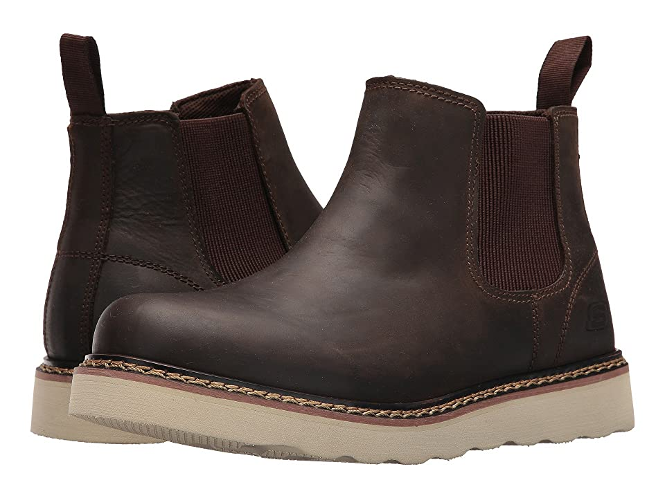 SKECHERS Work Pettus Kirkaldy (Dark Brown) Men