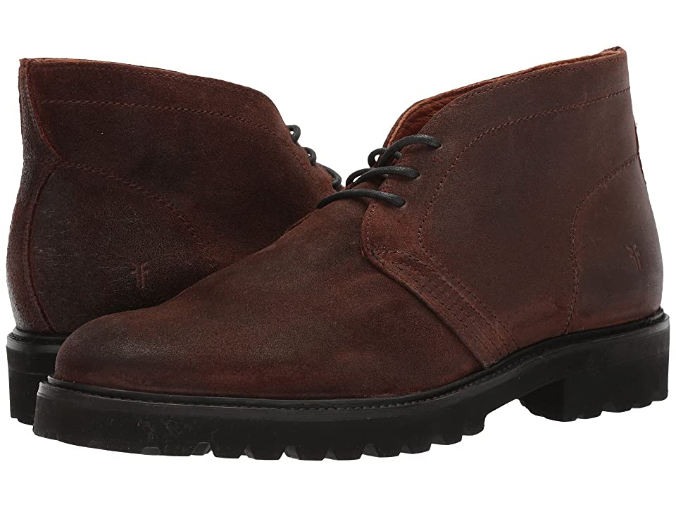 Frye Edwin Chukka (Brown Waterproof Oiled Suede) Men