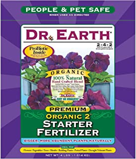 Dr. Earth 701 Organic 2 Transplant Starter Fertilizer, 4-Pound