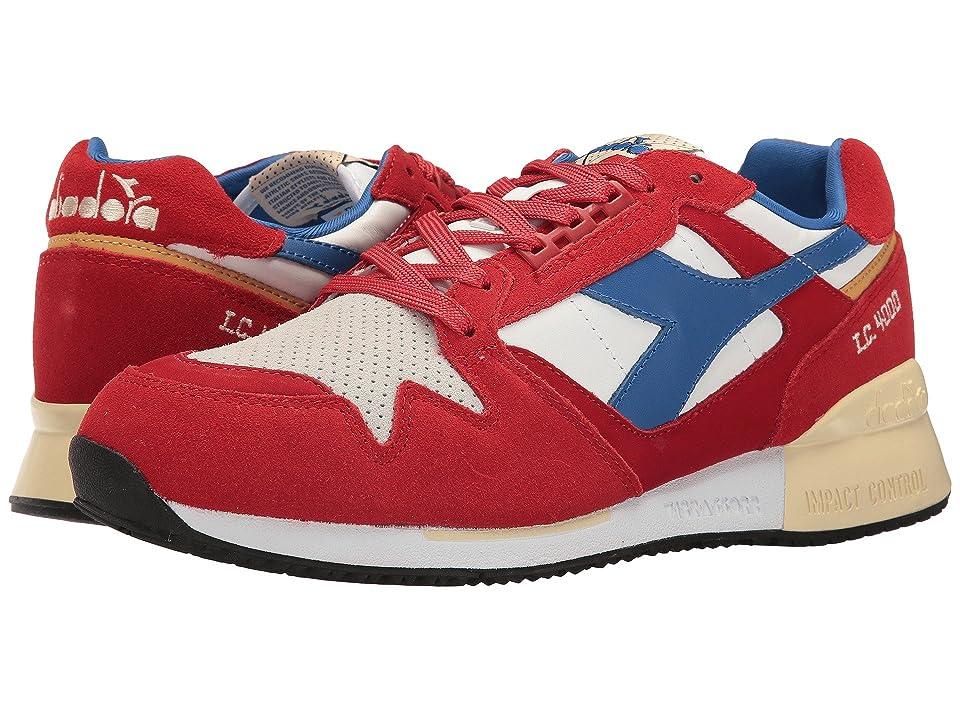 Diadora I.C. 4000 Premium (Pompeian Red/Nautical Blue) Athletic Shoes