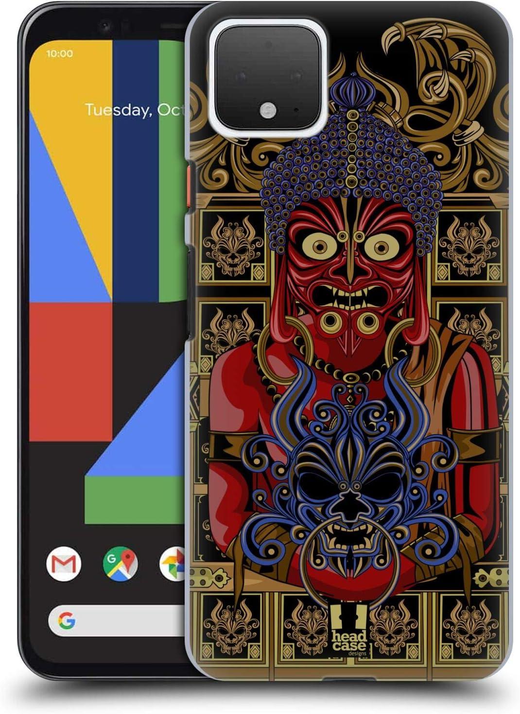 Head Case Designs Buddha Japanese Devil Face Hard Back Case Compatible for Google Pixel 4a