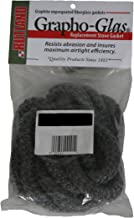 Rutland Products Rutland Grapho-Glas Woodstove Gasket Rope, 1/4 to 5/16 by 84-Inch, Black
