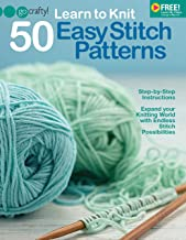 Learn to Knit 50 Easy Stitch Patterns-Step-by-Step Illustrations, Endless Stitch Possibilities-Free Online Video Tutorials Available