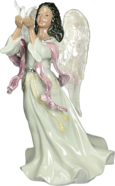 Cosmos 96571 Fine Porcelain African American Angel Musical Figurine 9 1 8 Inch