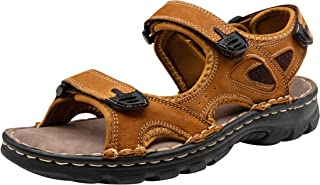 Men's Sandals Outdoor Open Toe Water Beach Sandal Leather Sport Sandal