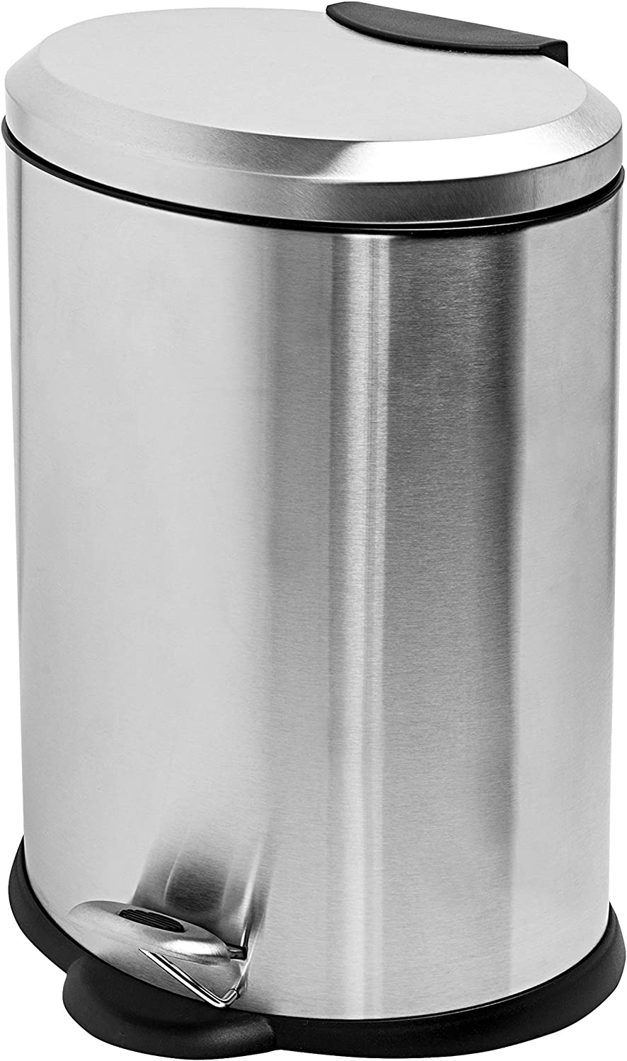 Honey-Can-Do 12L Oval SS New popularity 5 ☆ popular Step Can Silver TRS-01447