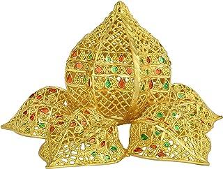 Memoir Gold Plated Meenakari, Hindu Pooja Article (Panchmeru Jain), god Stand, Idol Handmade by Memoir