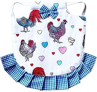 Hen Couture Hen Saddle Single Strap Apron Jacket Standard Size Chicken Poultry (Blue)
