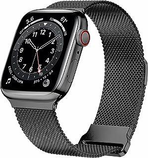 HILIMNY Correa de metal compatible con Apple Watch Correa de 38mm 40mm, correa repuesto malla acero inoxidable con lazo do...