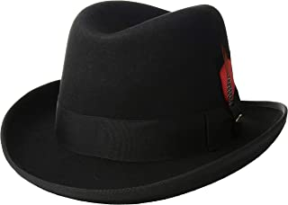 Men's Wool Felt Homburg Hat