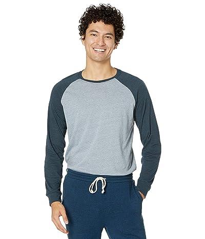 Threads 4 Thought Tri-Blend Long Sleeve Contrast Raglan Tee (China Blue/Midnight) Men