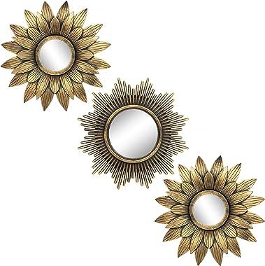 Espejos redondos pequeños para decoración de pared, juego de 3 – Gran accesorio para el hogar, dormitorio, sala y comedor