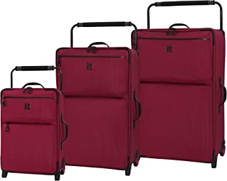 76b4bf696 it luggage 3 Piece Set of World's Lightest Urbane 2 Wheel Super Lightweight  Suitcases Suitcase,