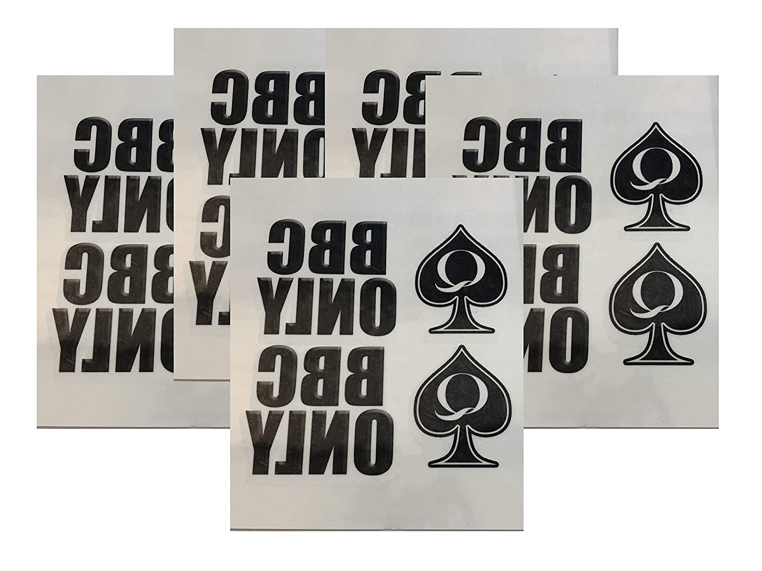 OFFicial 5 Sheet BBC ONLY Queen Pack Tattoo Japan's largest assortment of Temporary Spades