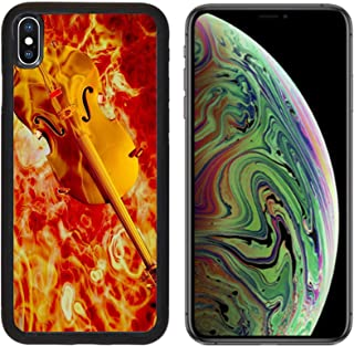 Liili Premium Apple iPhone Xs MAX Aluminum Backplate Bumper Snap Case Golden Violin Fiery Music Concept 3D Render Photo 8841772
