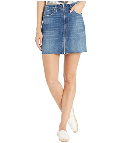 Blank NYC Denim Mini Skirt with Zipper Detail in People