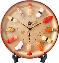 Sushi Clock Premium. Realistic Food Samples Made by Experts. A Great Gift for People who Like Sushi. A Unique Clock with R...