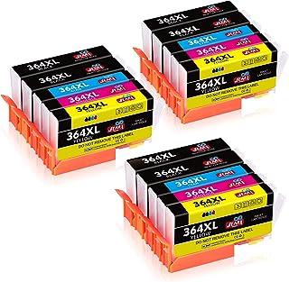 JIMIGO 364XL Cartuchos de Tinta Reemplazo Para HP 364 Tinta Compatible con HP Photosmart 5520 5510 7520 6520 7510 5524 5522 5515, HP Deskjet 3070A 3520, HP Officejet 4620