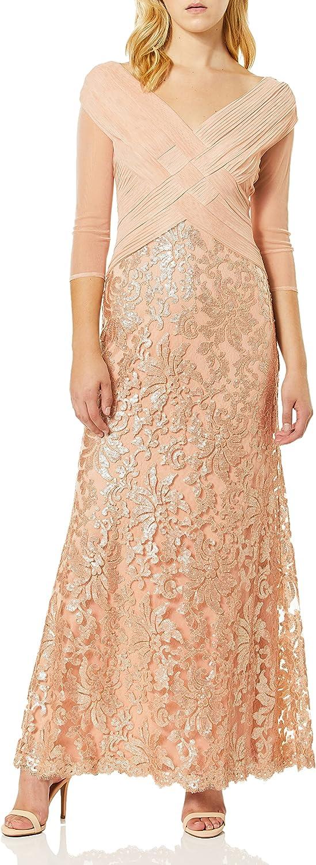 Tadashi Sale price Shoji Women's Mesh Sequin and quality assurance Gown