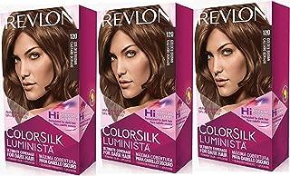 Revlon Colorsilk Luminista Haircolor, Golden Brown, 3 Count
