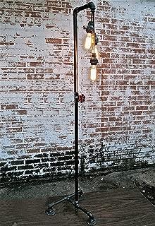 Vintage Floor Lamp Industrial Retro Water Pipe American Loft Living Room Bedroom Book Floor Lamp Household Lamps