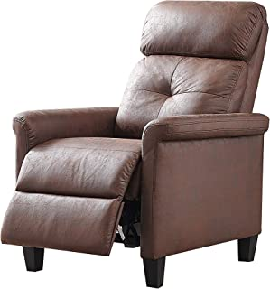 MLM Gather Push Back Recliner, Brown