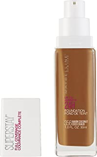 Maybelline Super Stay Full Coverage Liquid Foundation Makeup, Warm Coconut, 1 Fl Oz