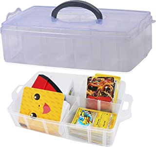 Totem World Collectible Trading Card Storage Case - Deep Compartment Portable Box - Holds 1000 Standard Cards or Sleeves -...