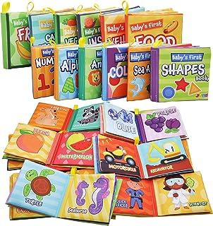 JOYIN 12 Packs My First Soft Bath Books, Nontoxic Fabric Soft Baby Cloth Books,Early Education Toys, Waterproof Baby Books...
