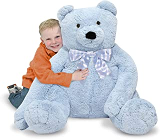 Melissa & Doug Jumbo Blue Teddy Bear - Plush