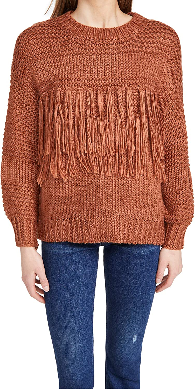 MINKPINK Women's Yoanna Chunky Fringe Knit Sweater