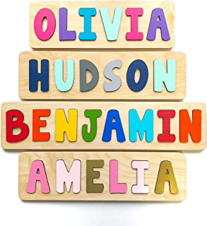 Wooden Name Puzzle, Gift for Baby or Toddler, Handmade in the USA