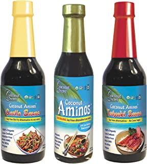 Coconut Secret Coconut Aminos Variety Pack - Coconut Aminos Original, Garlic Sauce & Teriyaki Sauce - 1 Each, 8-10 fl oz -...